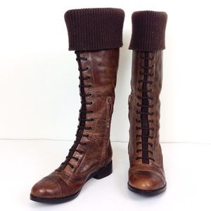 Cole Haan Brown Lace Up Tall Boots 7.5 - N850
